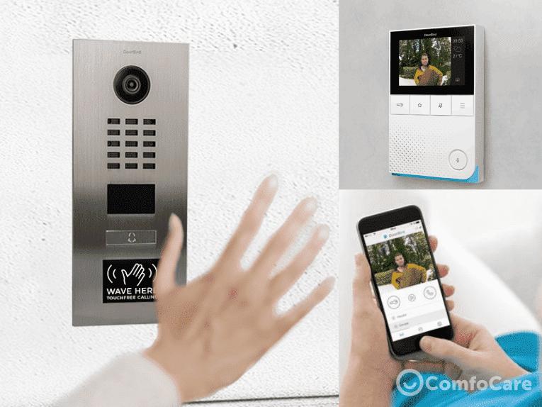 Voordeurcamera videodeurbel met scherm en app Doorbird.png